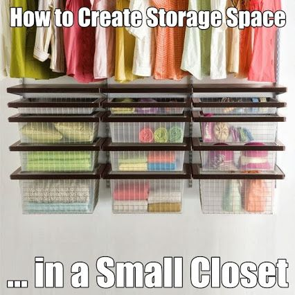 How to Create Storage Space in a Small Closet #organizing   #homeorganizing   #closets