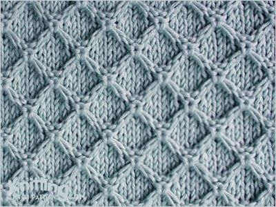 A combination of knit, purl, and slipped stitches. The Diamond Honeycomb is quite an easy pattern enough to master.