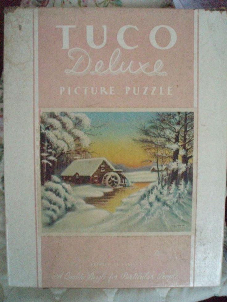 Tuco Brand Vintage Jigsaw Puzzle The Snowbound Mill #Tuco