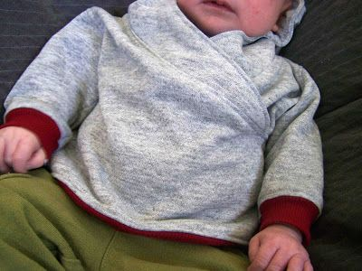 Lapped Front Infant Hoodie: Tutorial and Pattern