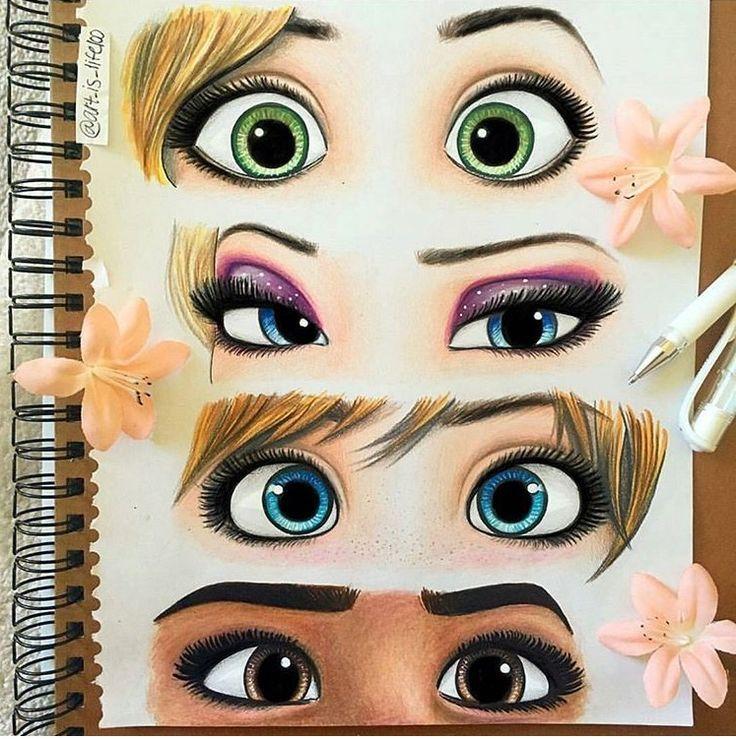 Prinzessin Augen Augen Malen Augen Zeichnen Ideen Furs Zeichnen