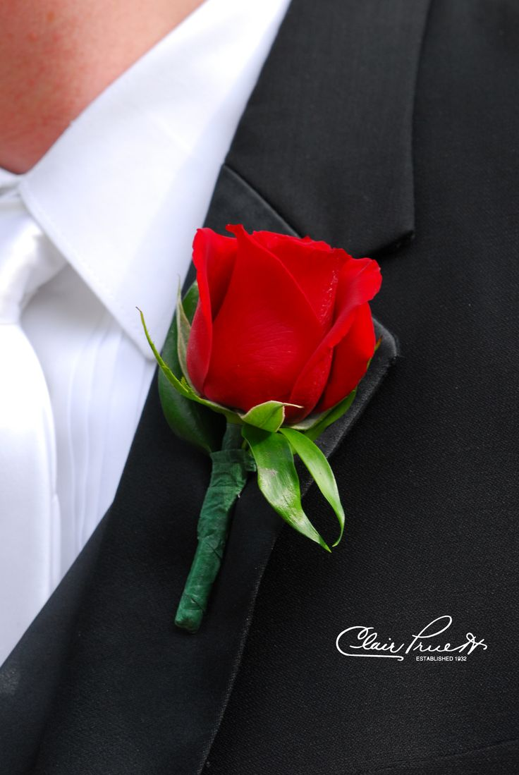 Perfect rose for a perfect groom.