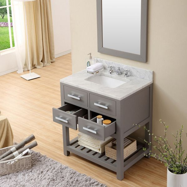 Water Creation Madalyn 30 Inch Cashmere Grey Single Sink Bathroom Vanity By Water Creation