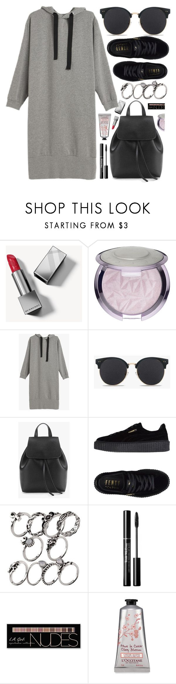 """""""Sporty Look"""" by genuine-people ❤ liked on Polyvore featuring Burberry, Puma, Charlotte Russe, black and gray"""
