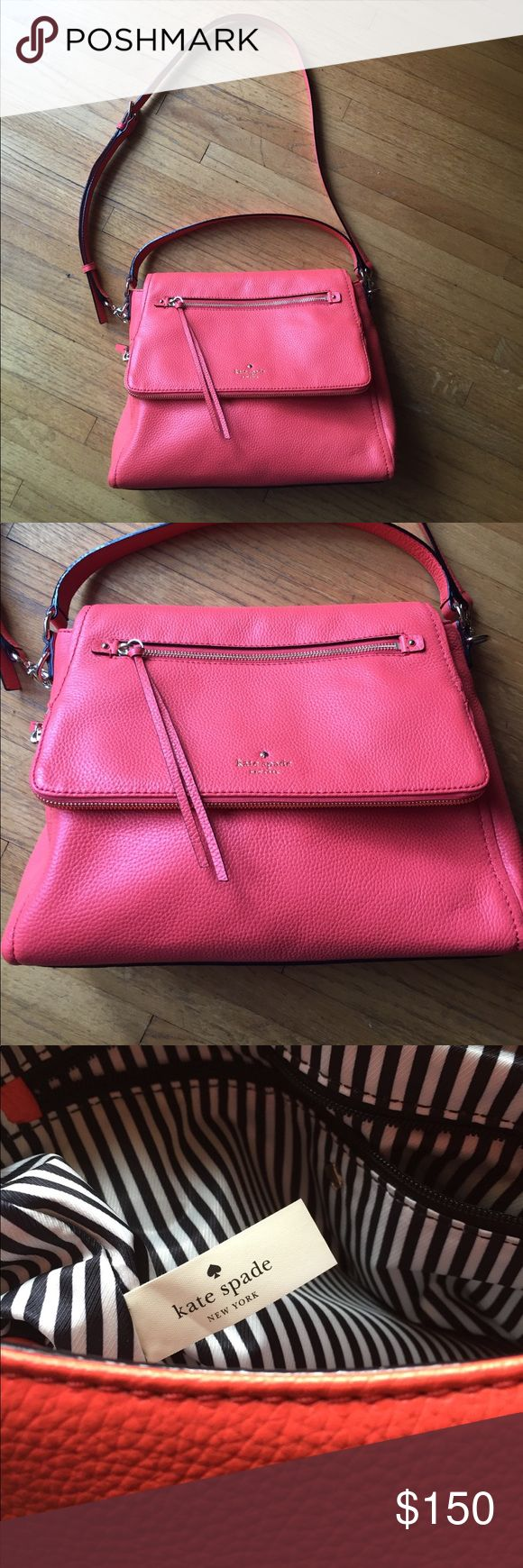 Kate Spade Cobble Hill Toddy Bright papaya, never used, comes with original storage bag, short and long straps, lots of pockets, medium sized bag kate spade Bags