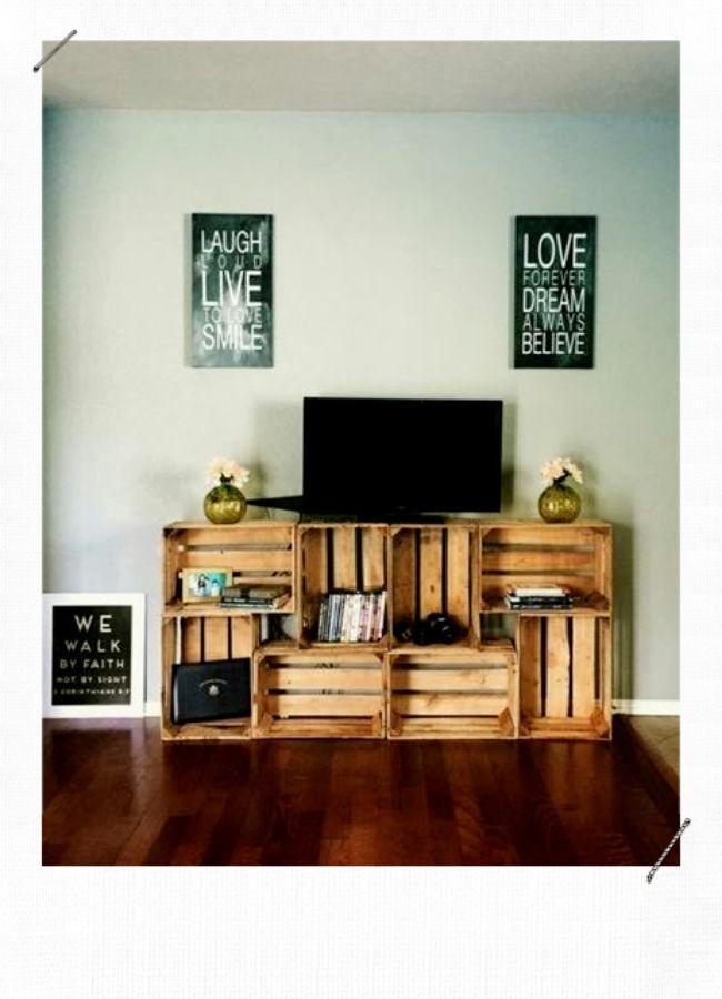 10 Idees Deco Avec Des Caisses En Bois Misszastyle Blog Deco Meuble Tele En Palette Fabriquer Meuble Tv Meuble