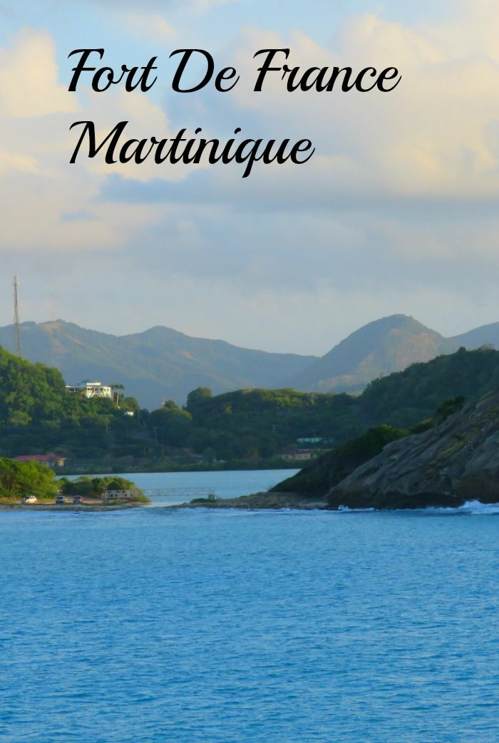 The area around Fort De France, Martinique.
