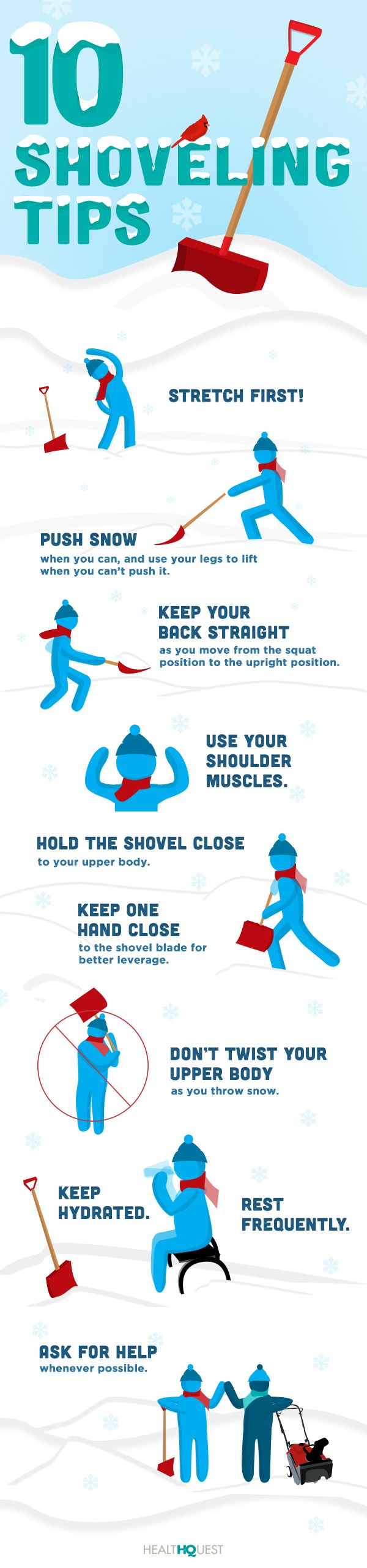 #Shoveling #tips to ensure less aches and pains  Loebig Chiropractic & Rehab www.loebigchiropractic.com