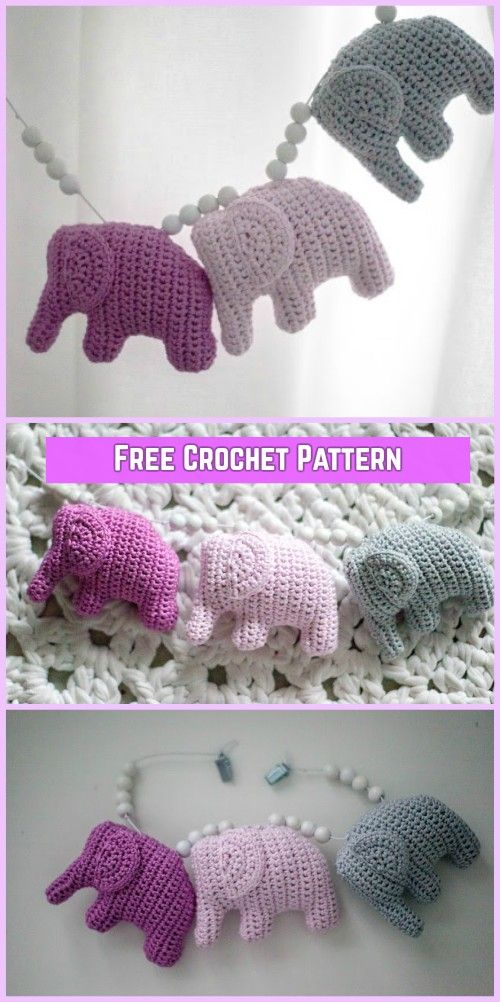 Crochet Elephant Amigurumi Free Pattern with Video
