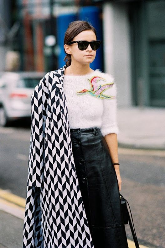 Buro 24/7s Miroslava Duma, after A Show, London, February 2014. I believe the little applique to...