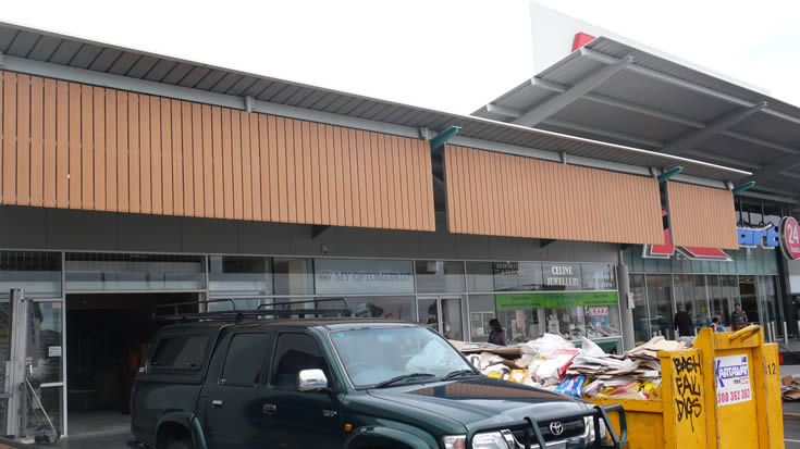 Sahara; awnings for commercial entrance #ModWood #WideDecking