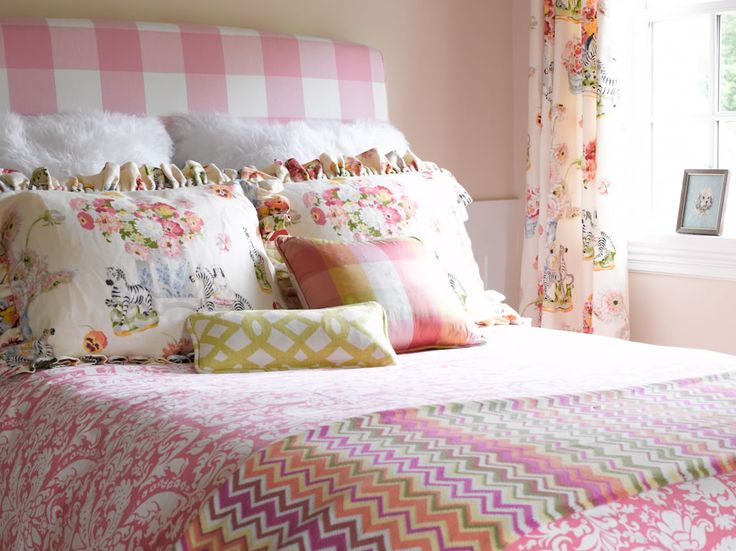 bick simonato interiors see more katie rosenfeld pink large checked headboard