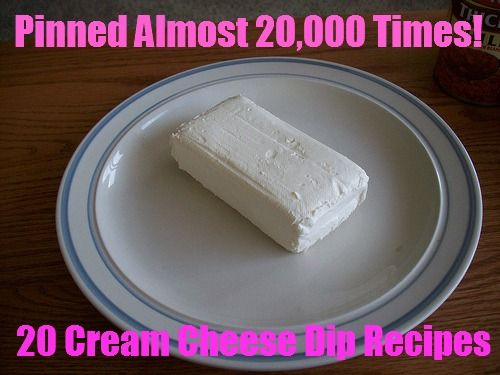 20 Cream Cheese Recipes Dips/Appetizers -- never found a recipe with cream cheese that I didn't like :)