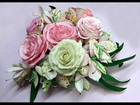 Роза из фоамирана. Мастер класс Елены Бакунцевой.
