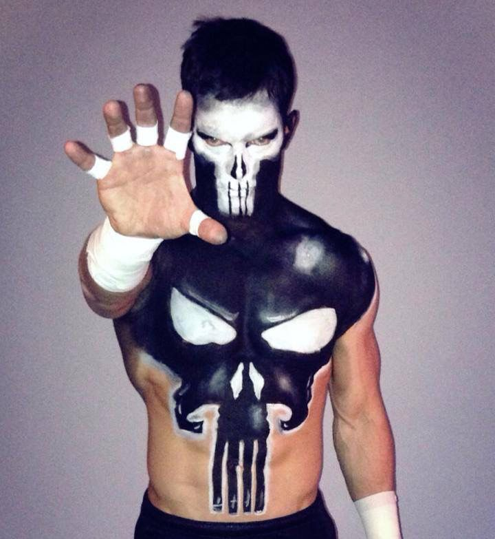 The Punisher Face Paint