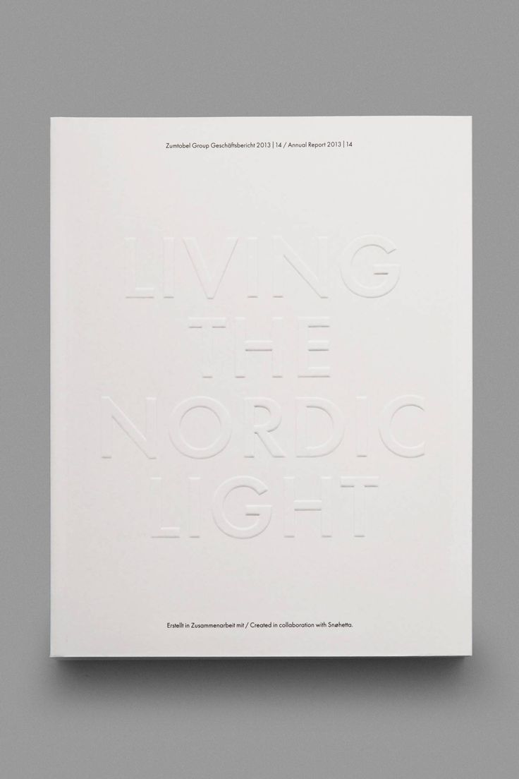 Living the Nordic Light – - a tribute to the 100 year olds of the North. Design by Snøhetta #Print #Finish #emboss