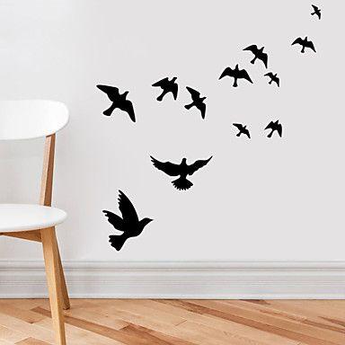 muurstickers+muur+stickers,+vliegende+vogels+pvc+muurstickers+–+EUR+€+5.87