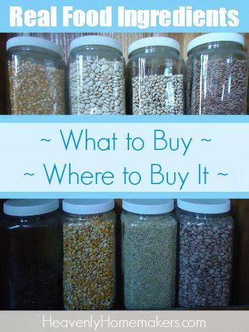 Real Food Ingredients Resource Page