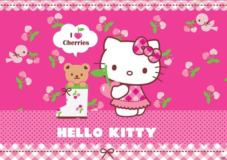 fototapet Hello Kitty cirese