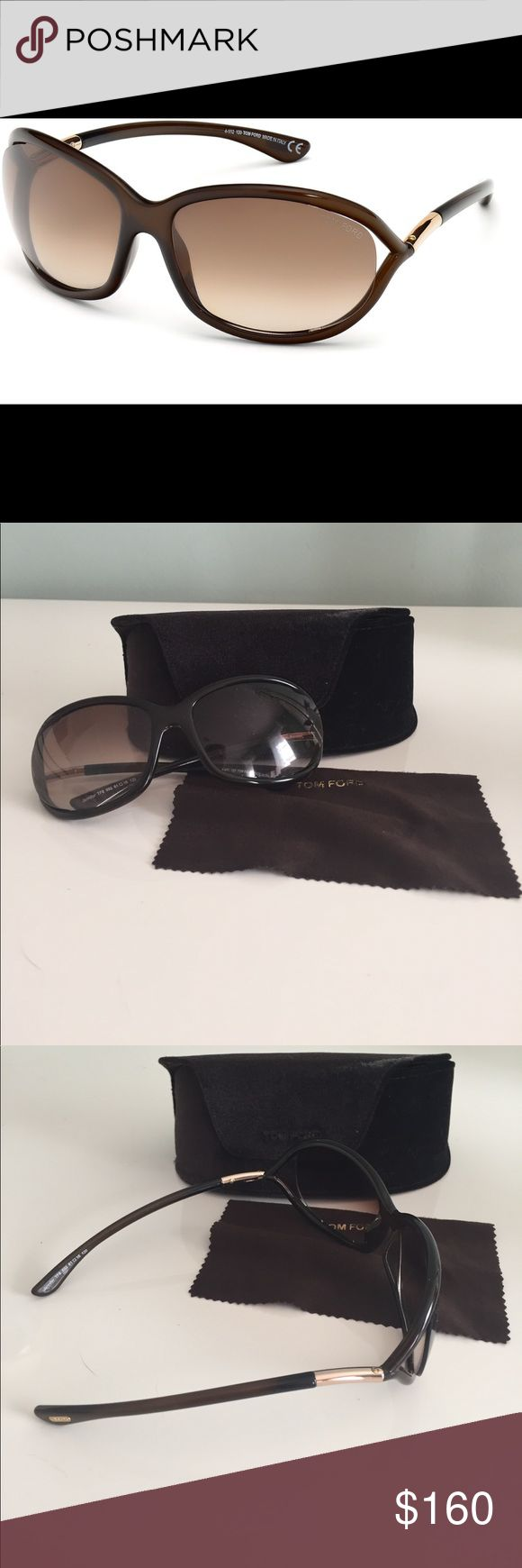 Tom Ford Jennifer Sunglasses With cool open temples and a curved silhouette, Tom Ford's It-girl shades are a sight for chic eyes.  100% UV protection Logo at lens corner Tom Ford Accessories Sunglasses