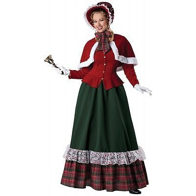 Lady costume charles dickens victorian caroler christmas fancy dress