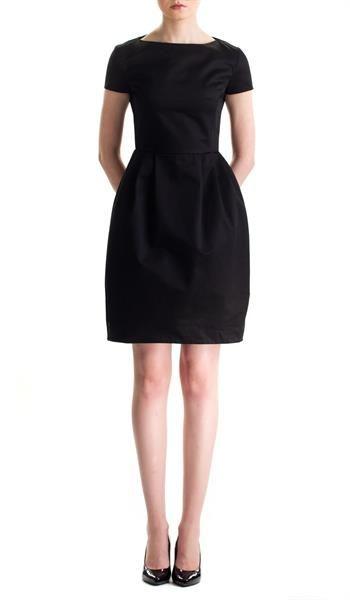 Черное платье тюльпан