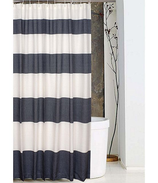 Noble Excellence Cabana Stripe Shower Curtain