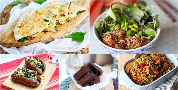 Weekmenu 130 - Een nieuw menu met o.a.: gepofte zoete aardappel met bonen, kip enchiladas, shoarma nasi, linzenstoof met garnalen en quesadilla's // Francesca Kookt
