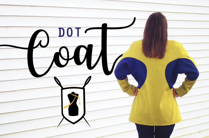 Dot Coat Reveal on the Duelling Designs Blog www.duellingdesigns.com Design, Patternmaking and Sewing.
