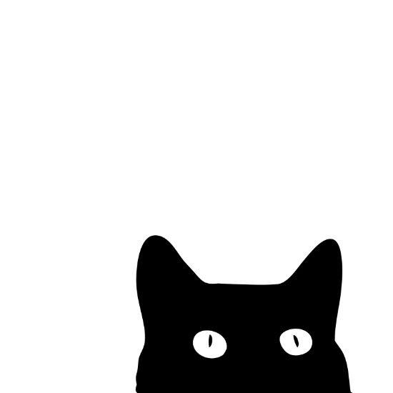 Black Cat Art Print by Good Sense