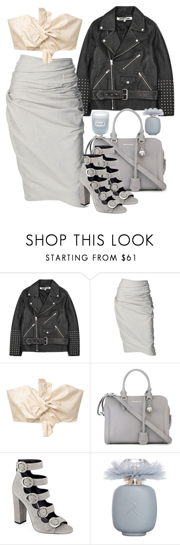 """sundae week"" by chloe-ja-br ❤ liked on Polyvore featuring McQ by Alexander McQueen, Donna Karan, MANGO, Alexander McQueen, Kendall + Kylie, Les Parfums De Rosine and Fresh"