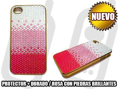 *NUEVO* - PROTECTOR + DORADO / ROSA CON PIEDRAS BRILLANTES - SOLO EN MGWIRELESS!!!  https://www.facebook.com/mgwirelesstj