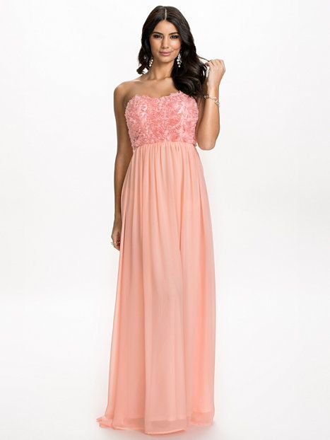 Floral Swing Dress - Nly Eve - Lichtroze - Feestjurken - Kleding - Vrouw - Nelly.com