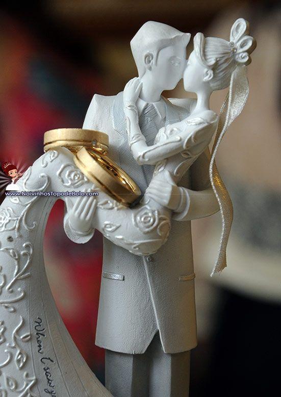 A93 - Topo de Bolo Casamento Kiss