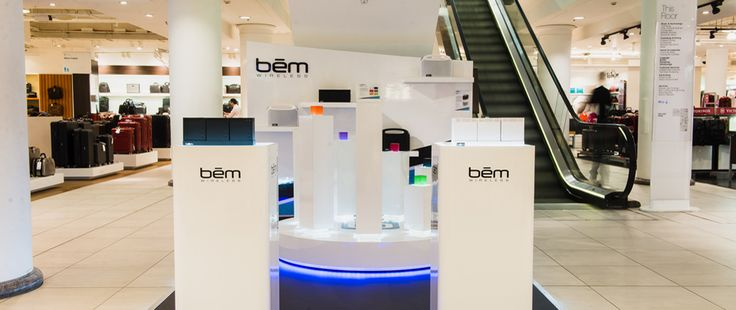 bem wireless in-store display @ Selfridges in London