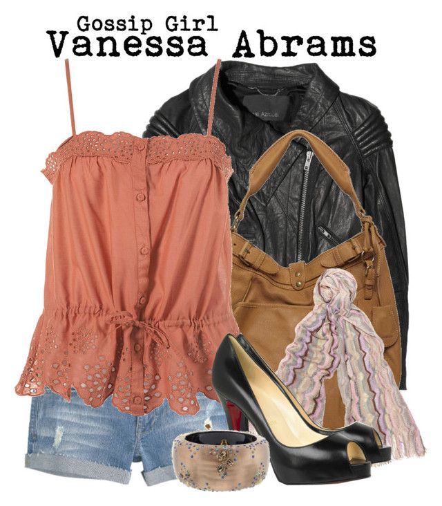 Gossip Girl- Vanessa Abrams by darcy-watson on Polyvore featuring polyvore fashion style Yigal Azrouël Christian Louboutin Vanessa Bruno Alexis Bittar Missoni clothing