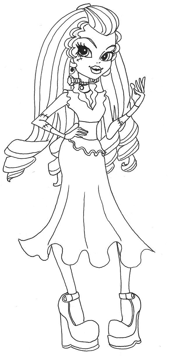 Frankie Stein Monster High Coloring Page
