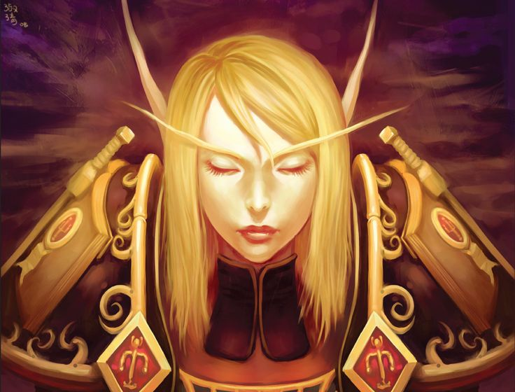Blood elf paladin lady