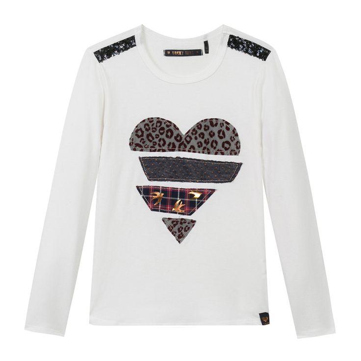 T-Shirt à manches longues Blanc cassé #Ikks, Vêtements Fille 4-12 ans
