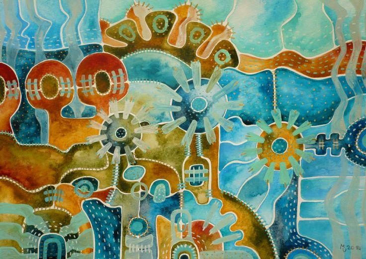 Karneval Obraz pochází z nové kolekce obrazů vytvořených kombinovanou technikou, kterou jsme si upravila sobě na míru. Od kresby oblíbenými akvarelovými pastely jsem došla ke klasickému akvarelu. Akvarelové barvy jsou zkombinovány s akvarelovým pastelem, který po nastrouhání a rozpuštění ve vodě slouží jako běžné akvarelové barvy, pouze je sytější a ve větší ...
