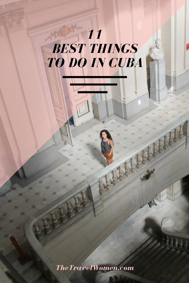 11 Best Things to do in Cuba. Cuba topped both our Dream Trips and Caribbean Bucket List articles this year for its exotic beaches, colorful culture and inexplicable ability to transport you back in time! Click through for more inspiration of what to do in Havana, Cuba and beyond.   The Travel Women #cuba #havana #traveltips