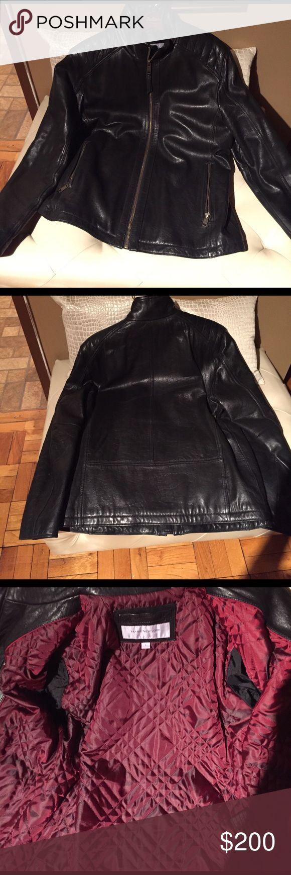 Andrew Marc Men's leather jacket Wore twice and in excellent condition. Size large Andrew Marc leather jacket. Offers welcomed Andrew Marc Jackets & Coats