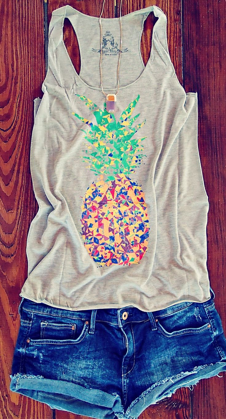 """undressedskeleton: """"New In The Shop!! http://simplytaralynncollection.com/products/colorful-speckled-pineapple-print-tank """""""
