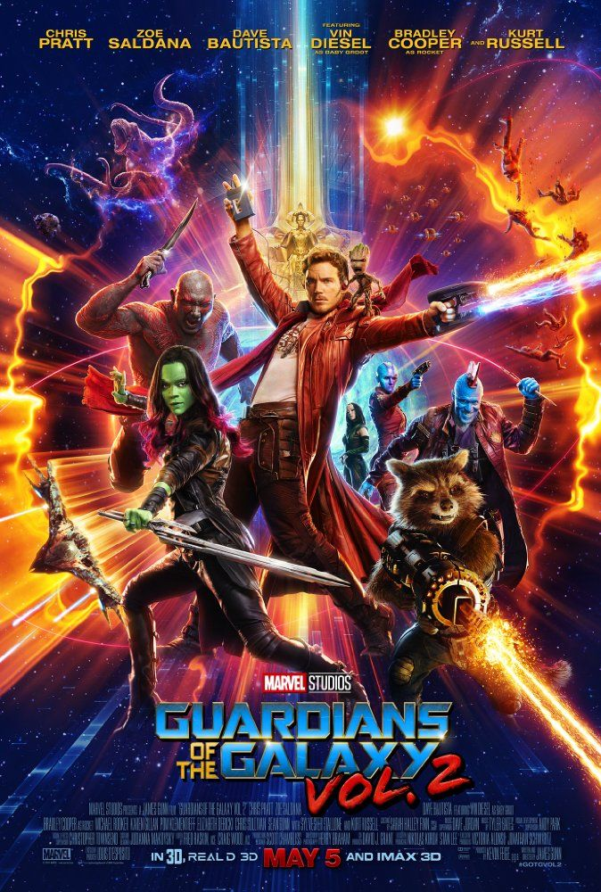 Starring Chris Pratt, Zoe Saldana, Kurt Russell | Set to the backdrop of Awesome Mixtape #2, 'Guardians of the Galaxy Vol. 2' continues the team's adventures as they unravel the mystery of Peter Quill's true parentage.