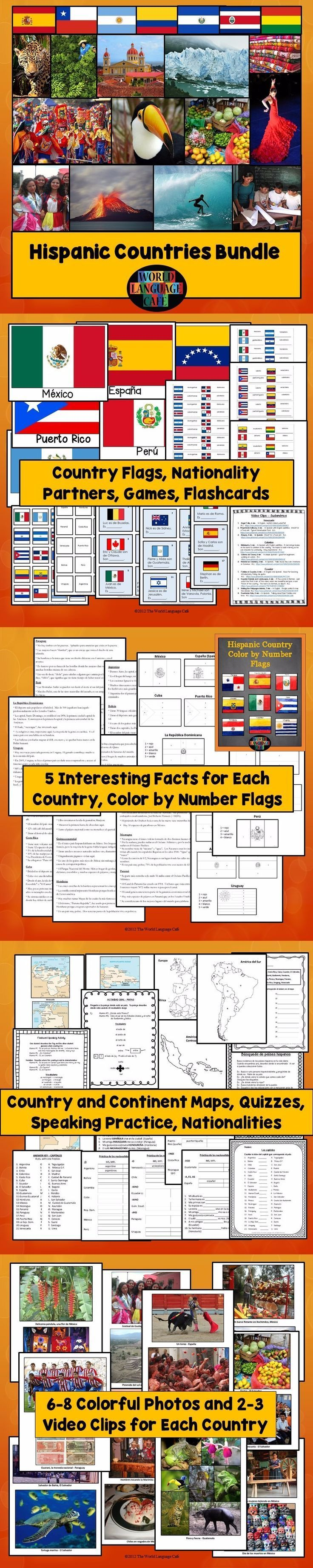 Spanish Speaking Countries Lesson Plans Maps Flags
