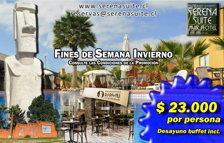 Promoción 3 noches en fin de semana. Conoce las condiciones de la promoción en http://www.serenasuite.cl/promotions/3-noches-33-dcto-fines-de-semana.htm Visita #LaSerena , visita #hotelserenasuite en #Chile