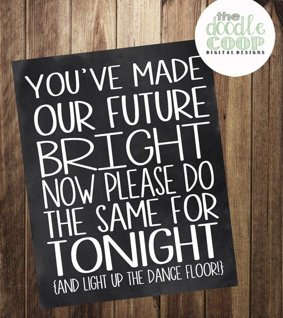 Glowstick Printable Wedding Reception Art Instant by TheDoodleCoop