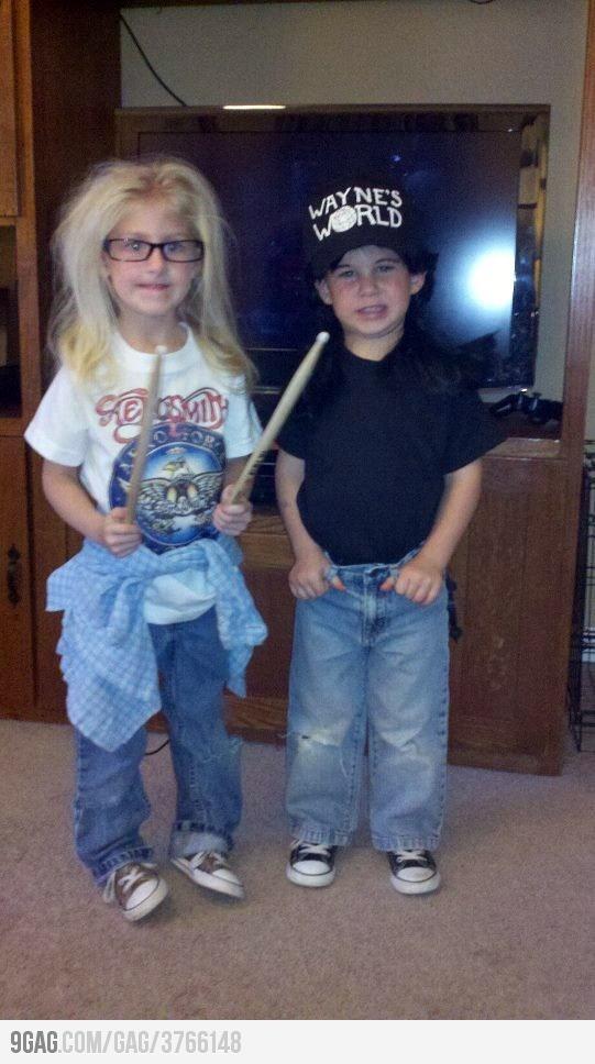 Wayne's World kid costumes- haha!