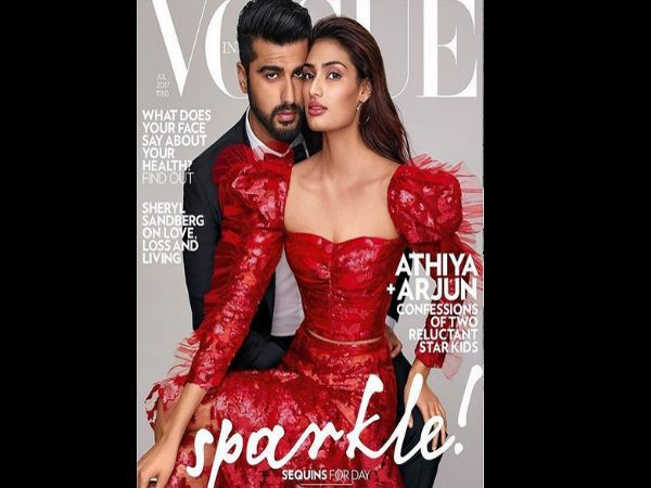 Take A Look At #Athiya Shetty​ & #Arjun Kapoor​'s Featured Stylish Look On #VogueMagazine​ #Bollywood #fashion #cover