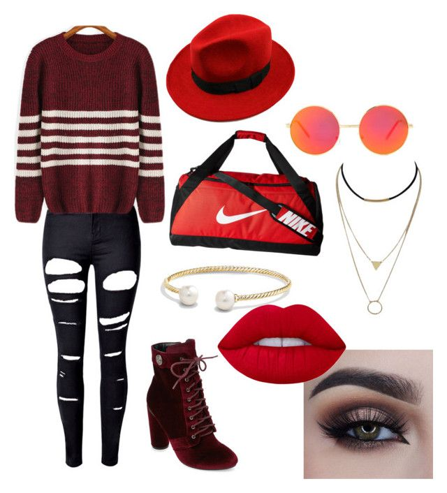 """""""11"""" by midnighthillzy on Polyvore featuring WithChic, Lime Crime, NIKE, Revo, Catherine Catherine Malandrino and David Yurman"""